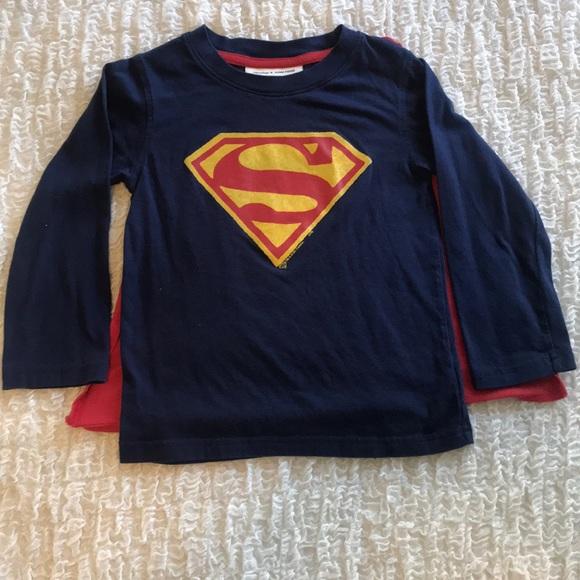Baby Gap Boys Toddler Superman Tee Shirt Blue DC Comics NWT
